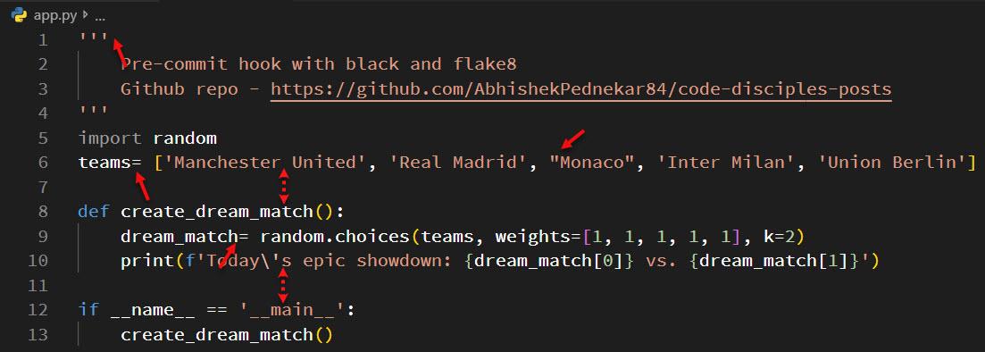 Unformatted-Code